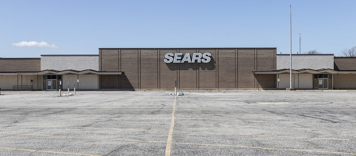 Michigan City - Circa April 2021: Recently shuttered Sears store. Sears is now owned by Transform SR Brands LLC.
